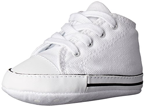 Converse Baby First Star High Top Sneaker, White, 3 M US Infant ()