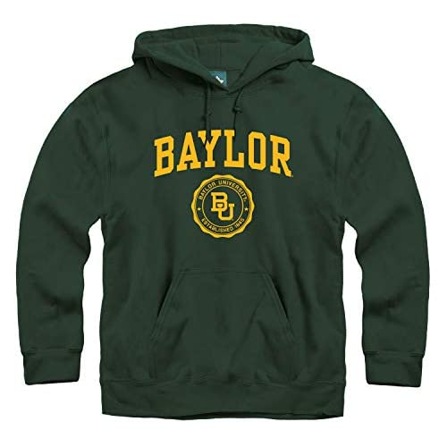 Ivysport Hooded Sweatshirt Heritage Logo Grey NCAA Colleges and Universities Cotton//Poly Blend