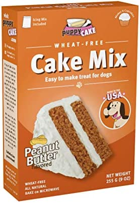Incredible Amazon Com Puppy Cake Wheat Free Peanut Butter Cake Mix And Personalised Birthday Cards Arneslily Jamesorg
