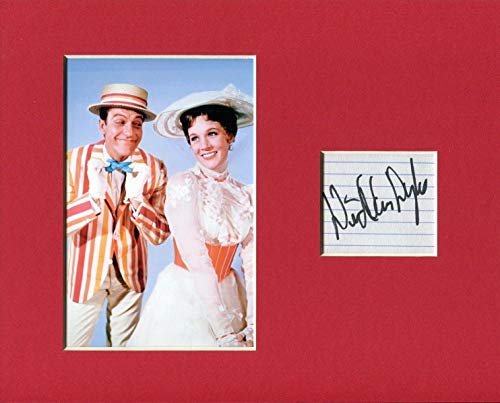Dick Van Dyke Mary Poppins Signed Autograph Photo Display With Julie Andrews from HollywoodMemorabilia