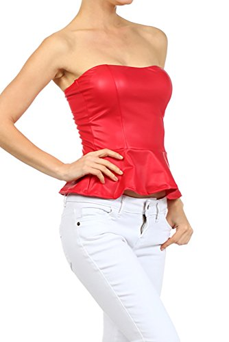 Peplum Tube Top - 3