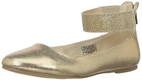 Nine West Girls' FLOYCEE Ballet Flat Gold Shimmer M080 M US Toddler ()