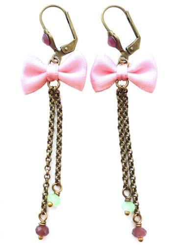 Les Bijoux Acidulés - Boucles d'oreilles Insouciance roses
