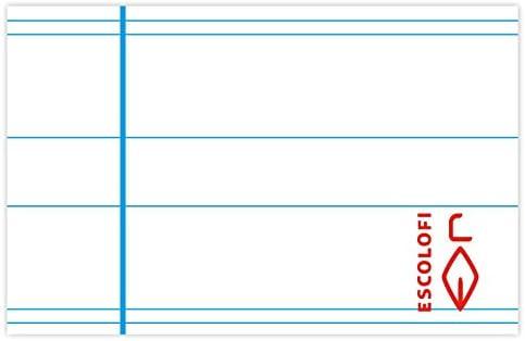 Escolofi Pack de 3 libretas de espiral de 80 hojas de 90 gr/m2 DIN A4 Montessori 5 margen color cian: Amazon.es: Oficina y papelería