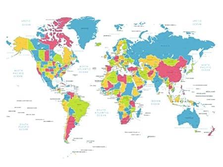 Feeten waterproof world map no mildew shower curtain with hooks feeten waterproof world map no mildew shower curtain with hooks gumiabroncs Images