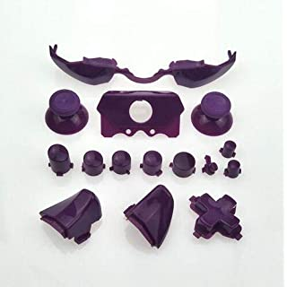 Full Set Dpad Bumpers Triggers Buttons RT LT RB LB Button ABXY Buttons with Thumbstick for Xbox One Elite Xbox One E Controller Replacement (Purple)