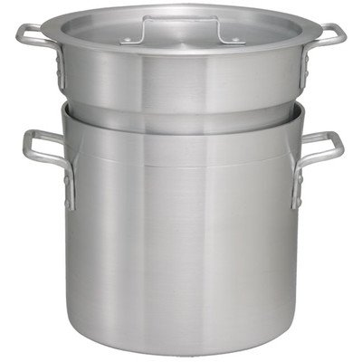 Winco ALDB-8 Aluminum Double Boiler Set, 8-Quart