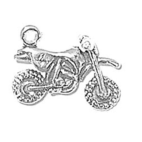 - 925 Sterling Silver Classic Vehicle Dirt Motorcycle Bike Charm For Bracelet/Necklace
