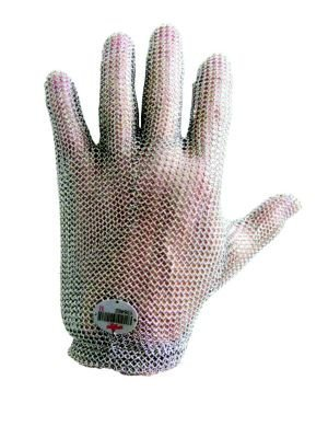 Tucker Safety CM030002 Products  Tucker Whizard Metal Mesh Glove, 100% Stainless Steel, Double Interlocked Metal Mesh, Patented Self-Adjusting Tension Wrist, Small, Each, Silver