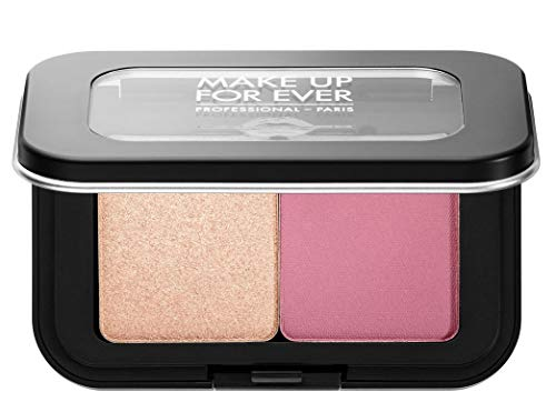 (MAKE UP FOR EVER Artist Face Color Mini Highlighter & Blush Duo: S214 - rosewood blush/ H106 - shimmery champagne)