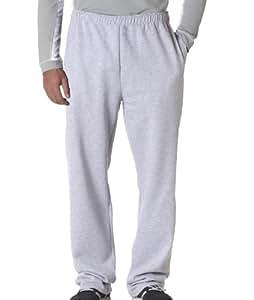 Jerzees 8 oz., 50/50 NuBlend Open-Bottom Sweatpants S ASH