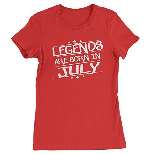 Legends Are Born Womens in July T-Shirt X-Large Red