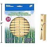 24-pc Bamboo Clothespins