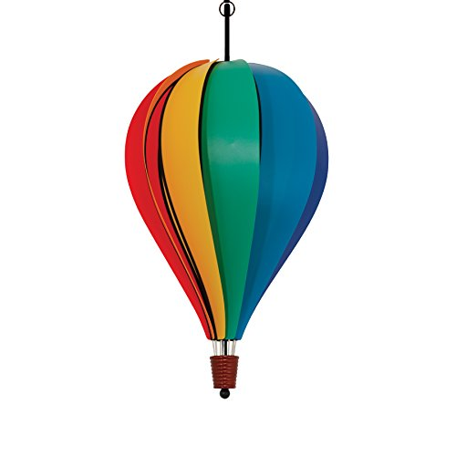 In the Breeze Rainbow Poly 10-Panel Hot Air Balloon - Wind Balloon