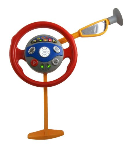 Cottontail Pretend Play Kids Light and Sound Steering Wheel Backseat Driver Toy Car Window ()
