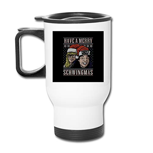 Merry Schwingmas Christmas Waynes World 16 Oz Stainless Tumbler Double Wall Vacuum Coffee Mug With Splash Proof Lid For Hot & Cold Drinks