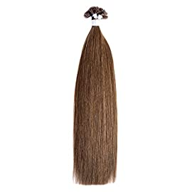 Ty.Hermenlisa 18″ Straight Pre-bonded Nail U Tip Hair Extensions 100% Natural Smooth Remy Human Hair, 50strands/Pack, 35g, Bleached Blonde(#613)