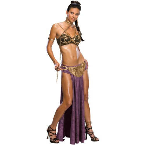 Cheap Creative Ideas For Halloween Costumes (Princess Leia Slave Adult Costume -)