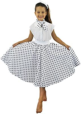 I LOVE FANCY DRESS LTD Falda Longa Blanca con Puntos Negros ...