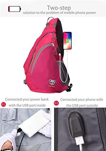 Sling Backpack Crossbody Bag for Women   Men Travel Shoulder Chest Bags One  Strap Hiking   50d5ff98ab2fa