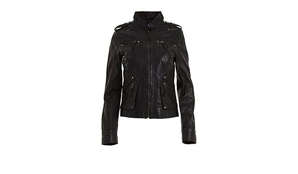 Ladies Classic Apple Green Nappa Leather Multi Pocket Fitted Rock Biker Jacket