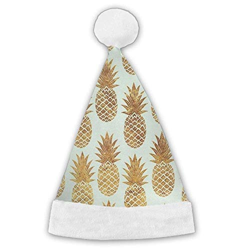 Gold Pineapple Pattern Funny Party Hats Christmas Hats