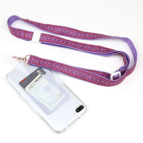 Gear Beast Cell Phone Lanyard, Universal Phone Case Holder with Card Pocket, Custom Adjustable Ribbon Neck Strap/Crossbody Strap with Safety Breakaway for iPhone, Galaxy, Note, Pixel, Moto & More