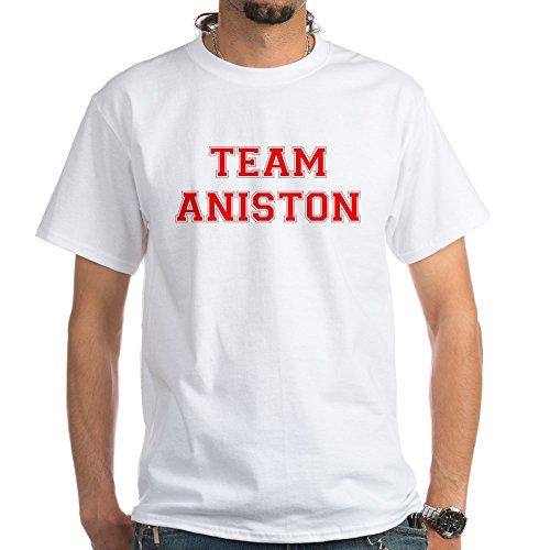 CafePress Team Aniston White T-Shirt - 100% Cotton T-Shirt, - White Aniston Jennifer Shirt T