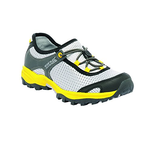 Regatta Boys Platipus Junior Breathable Walking Shoes Yellow RKF348 LtStl/BriYel