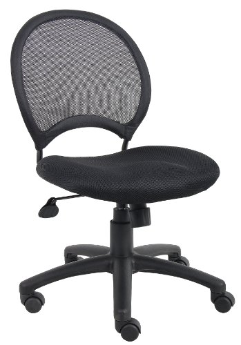 (Boss Office Products B6215 Mesh Task Chair without Arms in Black)