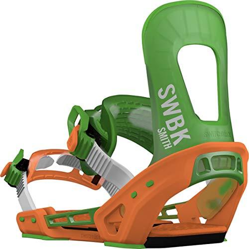 Switchback Smith Snowboard Binding Green/Orange, M-XL