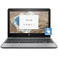 "2018 Newest HP 11.6"" HD IPS Touchscreen Chromebook with 3x Faster WiFi – Intel Dual-Core Celeron N3060 up to 2.48 GHz, 4GB Memory, 16GB eMMC, HDMI, Bluetooth, USB 3.1, 12-Hours Battery Life"
