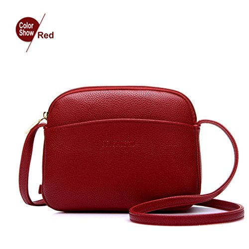 (ANANXILA NEW Hot Crossbody Bags For Women Casual Mini Candy Color Messenger Bag Shoulder Bags Red Mini(Max Length<20cm) )