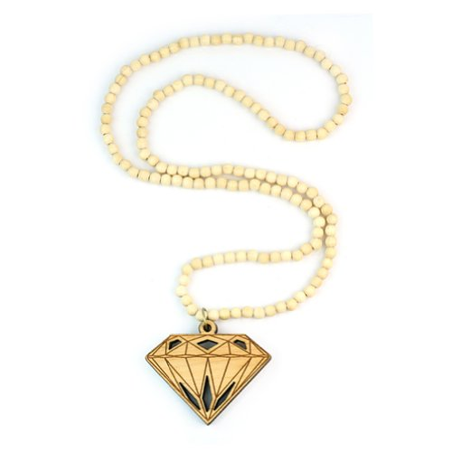 Hip-Hop Jewelry Fashion Good Wood Bead Pendant Chain Necklace