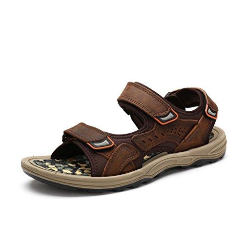 Shoes fodera in imbottito viaggio aderenza uomo Sandali chiusure neoprene plantare solida Da da passeggio Scarpe robuste HN estive velcro Khaki in BfPwZqBd