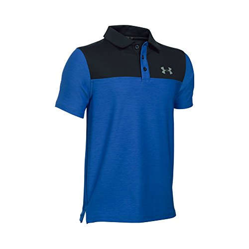 Under Armour Boys' Match Play Blocked Polo, Ultra Blue/Black, Youth Medium