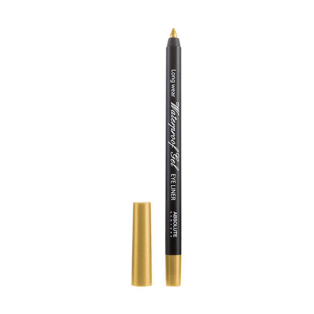 Absolute New York Waterproof Gel Eye Liner, Gold, 2g