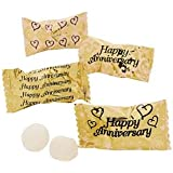Golden (50th) Happy Anniversary 120 Pieces Buttermints Sweets Favours by SOLEFAVORS