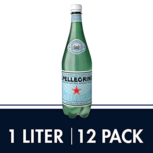 S.Pellegrino Sparkling Natural Mineral Water, 33.8 fl oz. (Pack of 12) - Most Bottled Water
