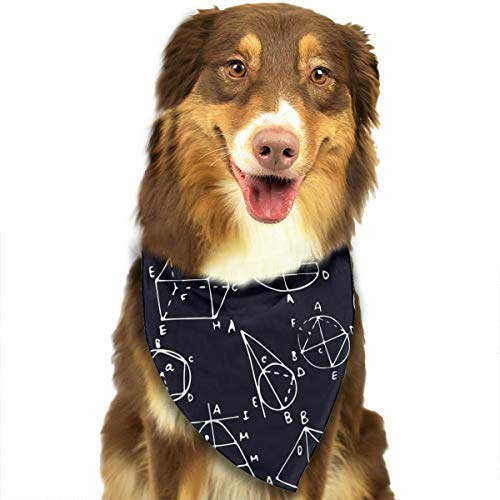 NOWDIDA Awesome Math Geometry Dog Bandanas - Washable and Reversible Triangle Cotton Dog Bibs Scarf Assortment Suitable for Puppy Small and Medium Pet]()