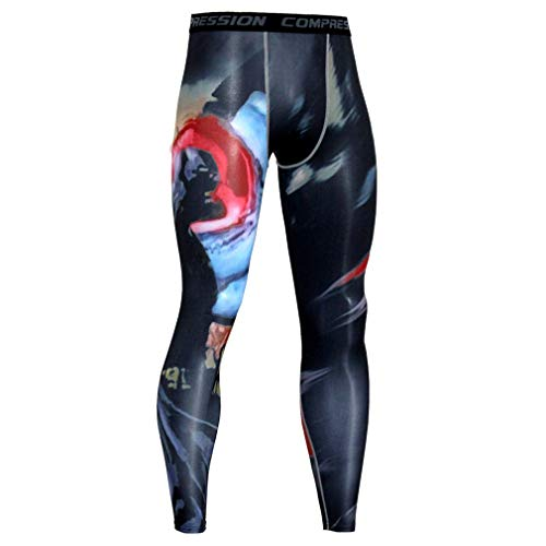 NATURET Compression Pants Baselayer Running Tights Mens Sports Cool Dry Leggings (XL, Multicolor1)