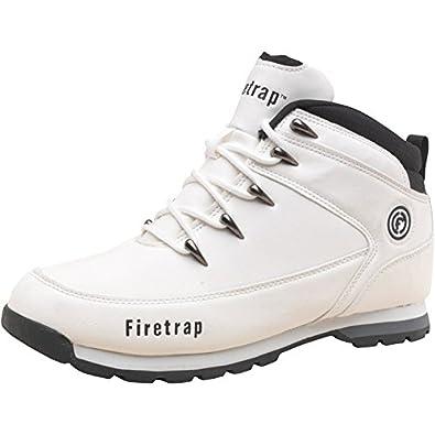 Firetrap Mens Blaze Boots White/Black - Off White/Black - 6 UK 6