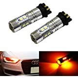 iJDMTOY (2) Amber Yellow Error Free PWY24W LED Bulbs For Audi A3 A4 A5