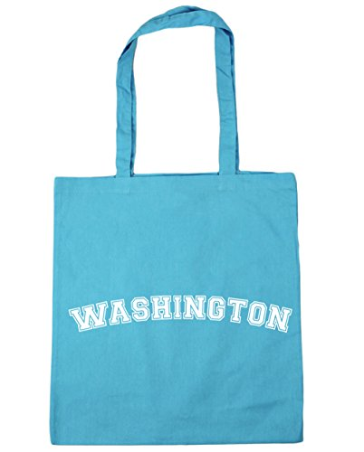 HippoWarehouse Washington Tote Shopping Gym Beach Bag 42cm x38cm, 10 litres Surf Blue