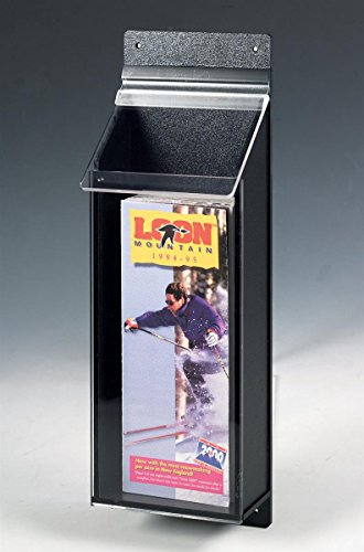 Displays2go 4'' x 9'' Outdoor Literature Holder with Clear Front Dispenser (OPD1SM) by Displays2go