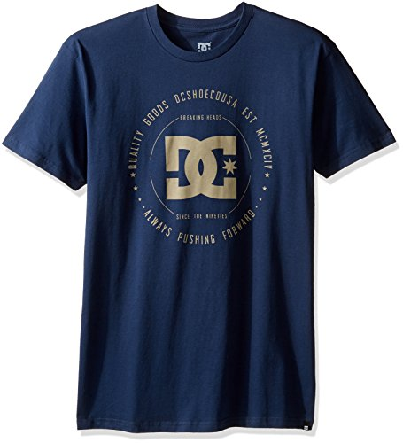 DC Shoes Men's Rebuilt SS T Shirt Blue L