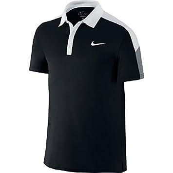 Nike Camiseta de Equipo Corte Polo de Tenis para Hombre (Negro ...