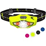 Headlamp by SmarterLife   CREE LED Headlight with Strobe, Lightweight, Water Resistant for Camping, Running, Hiking, Emergency Kit, and Reading Light
