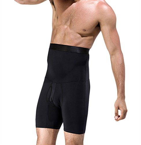 d234e88dafecf TenMet Men s Double-Layer Belt Anti-Curling High Waist Body Sculpting Pants  Abdomen Shaping