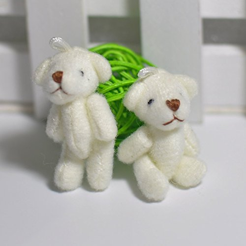White Teddy Bear Little Stuffed Animals Diy Dolls Doll Birthday Gift Kids Toy Baby 4cm Tiny Soft Girls Christmas